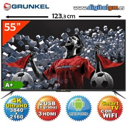 "TV 55"" LED GRUNKEL (4K Ultra HD-Android TV-USBrec-TDT2)"
