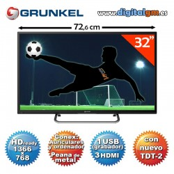 "TV 32"" LED GRUNKEL (HDready-1xUSBrec-TDT2)"