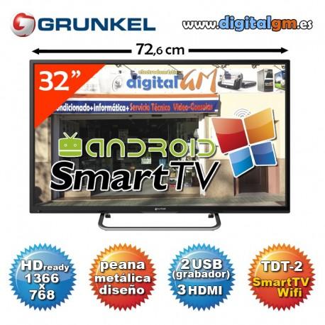 """TV 32"""" LED GRUNKEL """"SMART TV"""" (HDready-2xUSBrec-100Hz-TDT2)"""