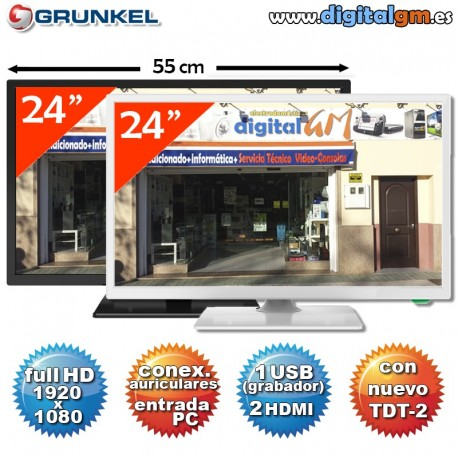 "TV 24"" LED GRUNKEL (FullHD-USBrec-TDT2)"