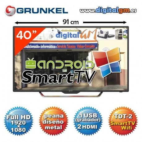 """TV 40"""" LED GRUNKEL """"SMART TV"""" (fullHD-USBrec-TDT2)"""