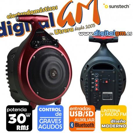 ALTAVOZ SUNSTECH MASSIVE-S6 (30w RMS/BLUETOOTH/MANDO/USB/SD)