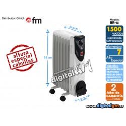 RADIADOR ACEITE FM BR-15 (1500W / 7 elem./COMPACTO)