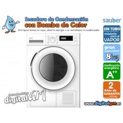 SECADORA SAUBER CONDENSACION BOMBA DE CALOR (8Kg/A++)