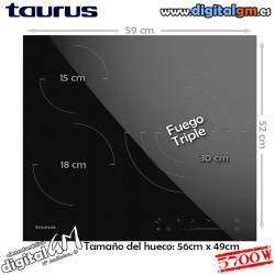PLACA VITRO TAURUS (3 fuegos)
