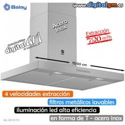 """CAMPANA BALAY INOX (""""T"""" INVERTIDA/720m3h)"""