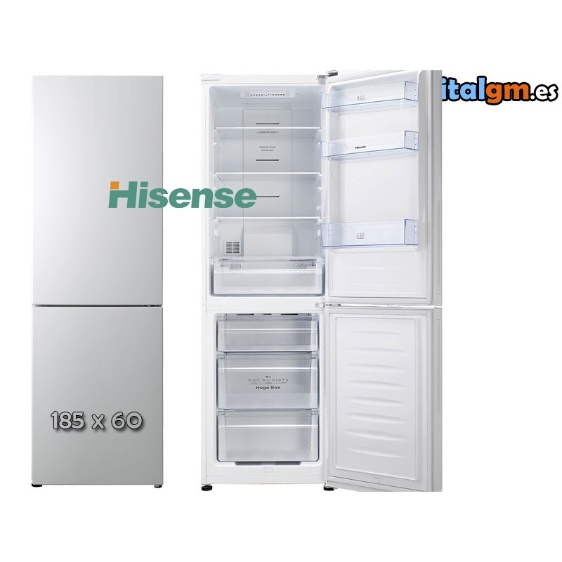 frigo combi hisense rd 44wc4sqb cpa1 185x60 a no frost. Black Bedroom Furniture Sets. Home Design Ideas