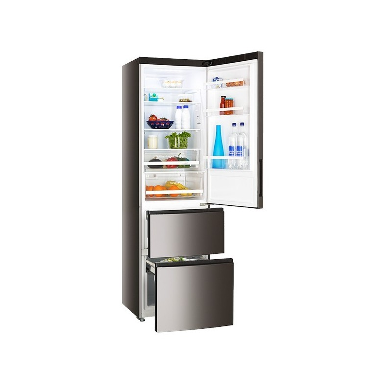 frigo combi haier a2fe635cfj titanium 191x60 a no frost. Black Bedroom Furniture Sets. Home Design Ideas