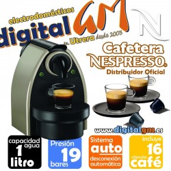 CAFETERA NESPRESSO KRUPS/DELONGHI AUTO + 16 CAPS.