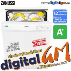 LAVAVAJILLAS ZANUSSI ZDF12001WA (pilotos Sal y Abrillantador) A+