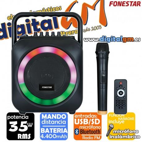 ALTAVOZ FONESTAR BOX-35LED (35w/BLUETOOTH/MANDO/USB/SD/+ MICRO)