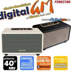 ALTAVOZ FONESTAR BLUEVINTAGE-45 (20x2w/BLUETOOTH/USB/SD)