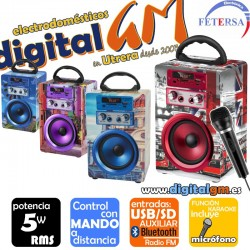 ALTAVOZ FETERSA JF-3755 (5w/BLUETOOTH/MANDO/USB/SD/MICRO)