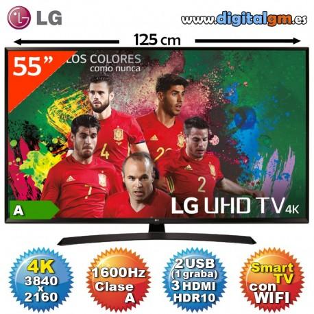 """TV 55"""" 4K LED LG (1600Hz-SmartTV-HDR10)"""