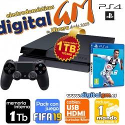 CONSOLA PS4 SONY 1Tb + FIFA19