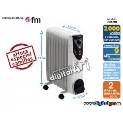 RADIADOR ACEITE FM BR-20 (2000W / 9 elem./COMPACTO)