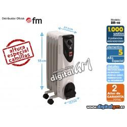 RADIADOR ACEITE FM BR-10 (1000W / 5 elem./COMPACTO)